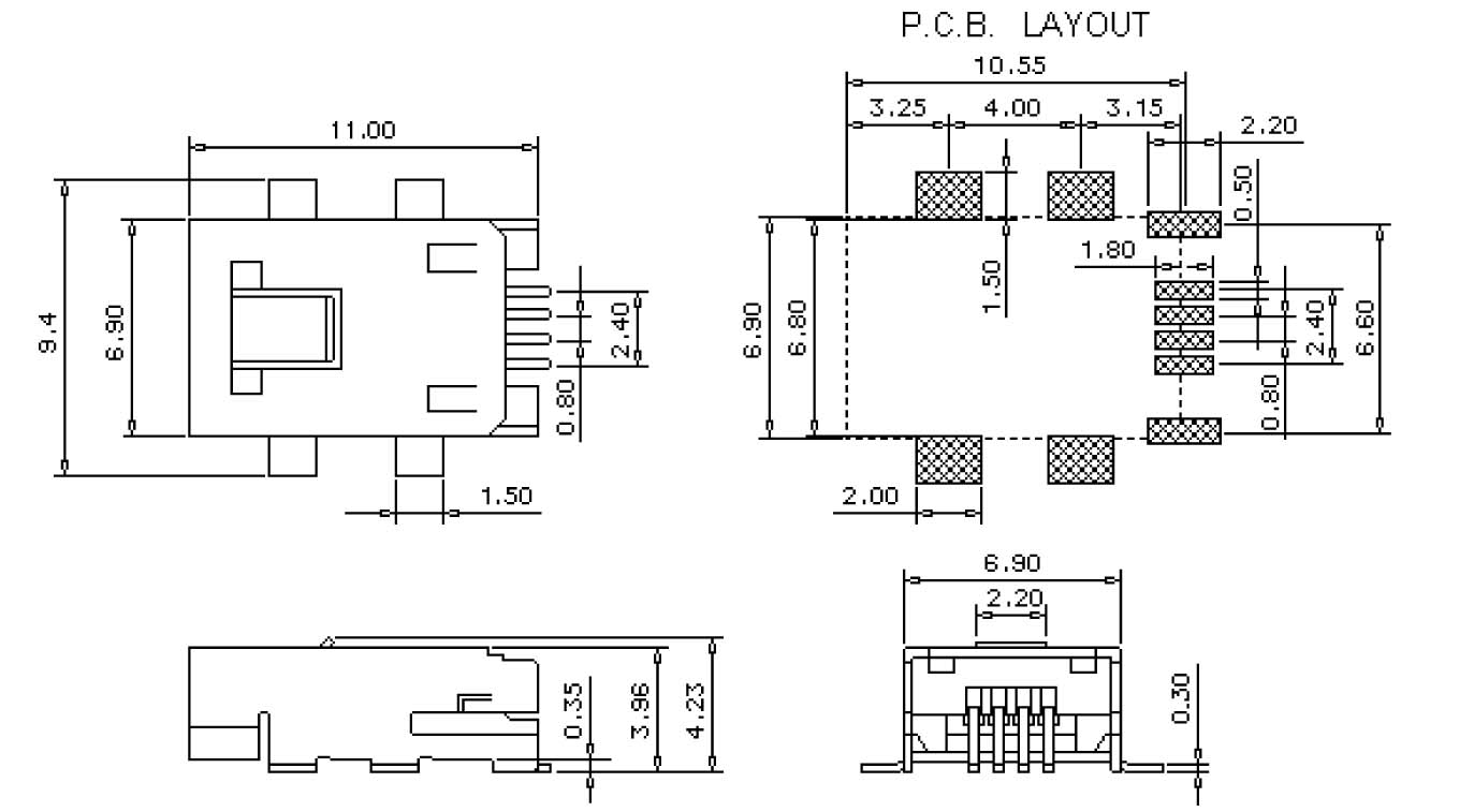 Eurotech Technologies Pvt Ltd Usb Connection Block Diagram Dimensions Unit Mm
